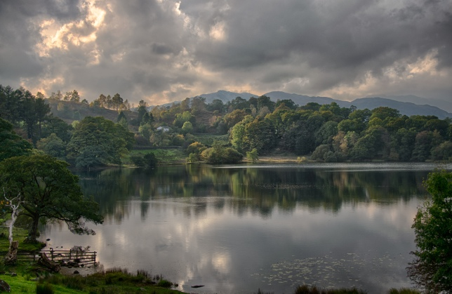Loughrigg Tarn and the Consiton Fells