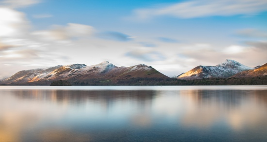 Long exposure of Catbells in the early light