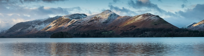 3 image panorama of Catbells