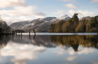 Catbells emerges from behind Derwent island