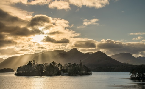 Catbells from Crow Park as the sun dropped
