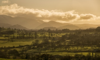 Looking towards the Helvellyn range from a layby on the A