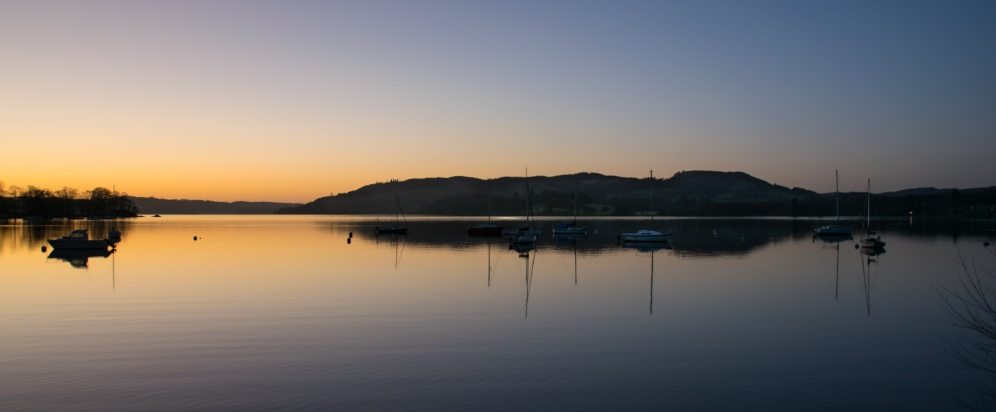 pre-dawn colours over Windermere