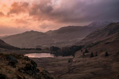 pre-dawn skies over Blea tarn