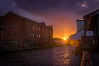 Wigan Pier sunset 2