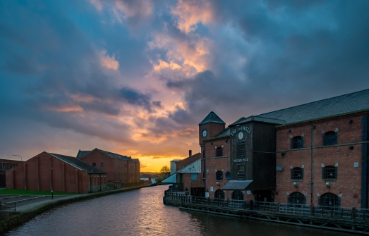 Wigan Pier sunset